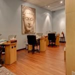 Relaxing Nail Room at Avenue Apothecary & Spa