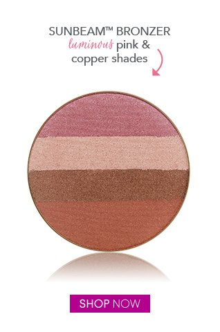 luminous pink and copper shades